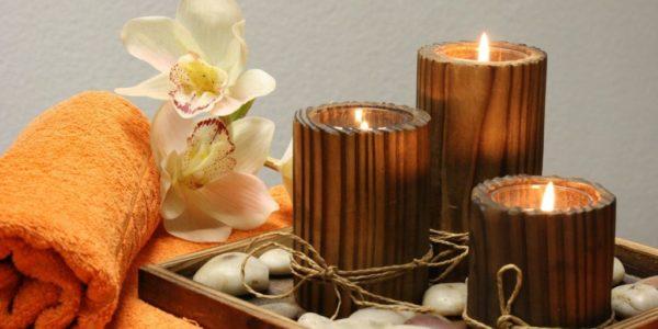 Kerzen, Handtuch
