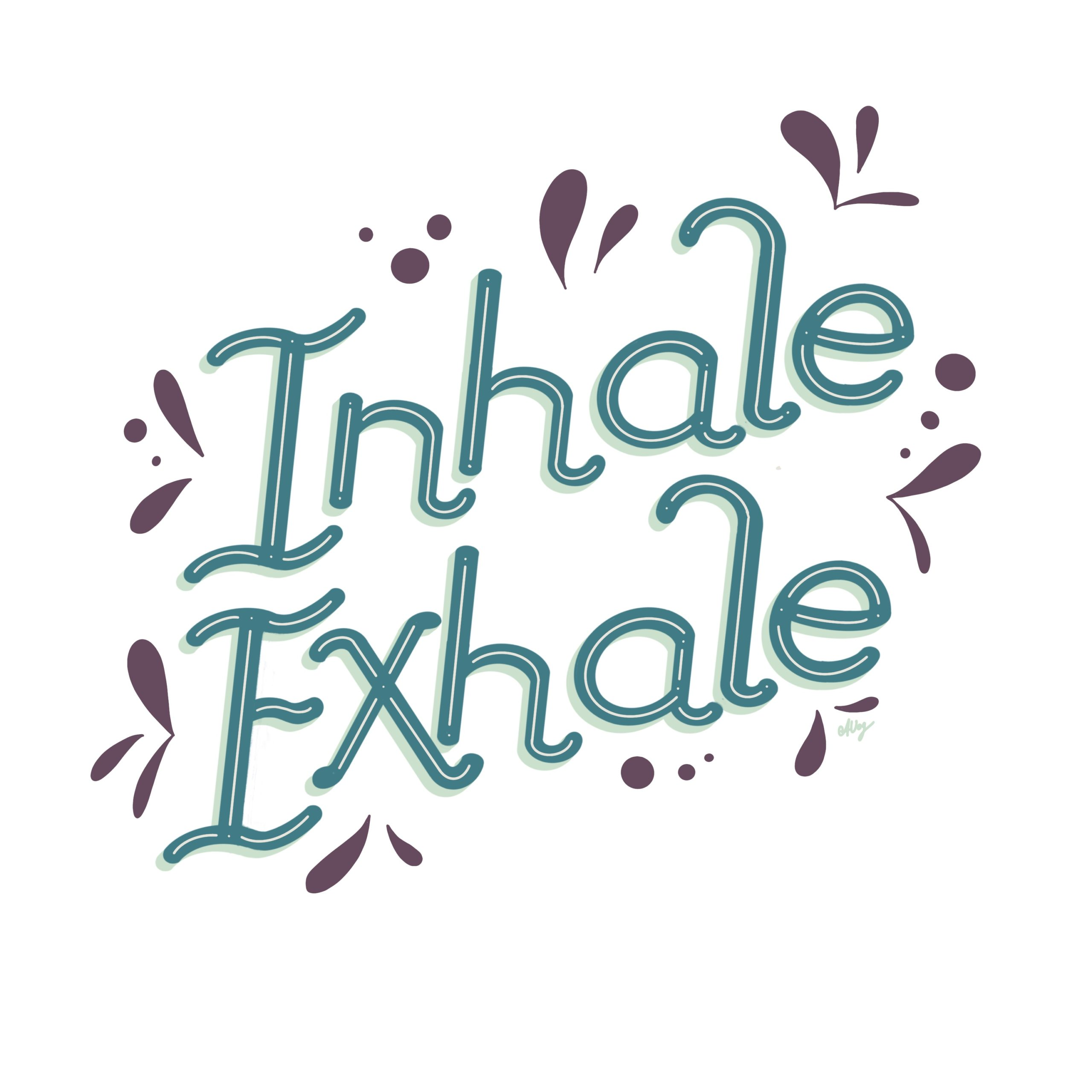 Workshop Yoga meets Hand Lettering - Inhale and Exhale